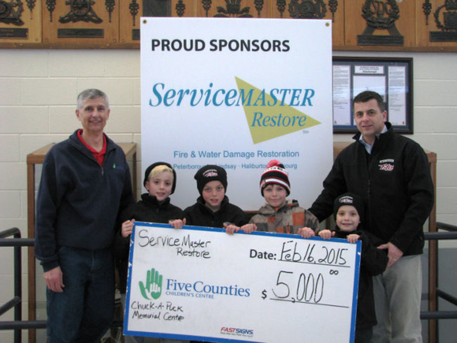 ServiceMaster Peterborough's Sponsorship of Family Day Event with the Petes helps Five Counties Children's Centre raise $8,000